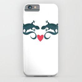 Gecko Love Couple iPhone Case
