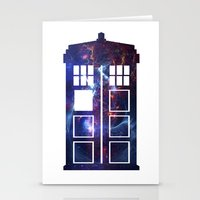 tardis Stationery Cards featuring Tardis by Zhavorsa