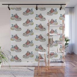 Balenciaga Triple S Sneaker Pattern Illustration Wall Mural