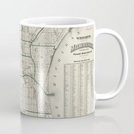 Vintage Map of Milwaukee Wisconsin (1909) Coffee Mug