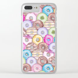 Donut Invasion Clear iPhone Case