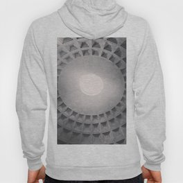 The Pantheon dome, architectural photography, Michael Kenna style, Rome photo Hoody