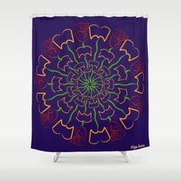 Pétalos y páginas (Petals and pages) Shower Curtain