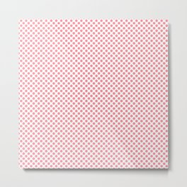 Conch Shell Polka Dots Metal Print