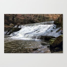River Spodden falls Canvas Print