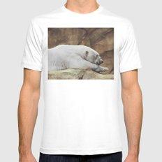 Polar Bear MEDIUM White Mens Fitted Tee