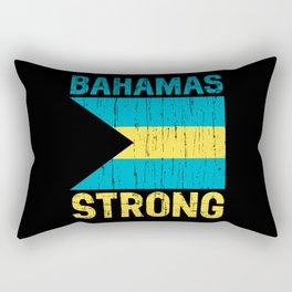 Bahamas Strong Bahamian Caribbean Flag Distressed Rectangular Pillow