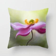 Anemone swirl Throw Pillow