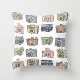 Camera Collection Throw Pillow