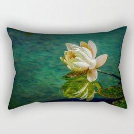 Water Lily after rain Rectangular Pillow