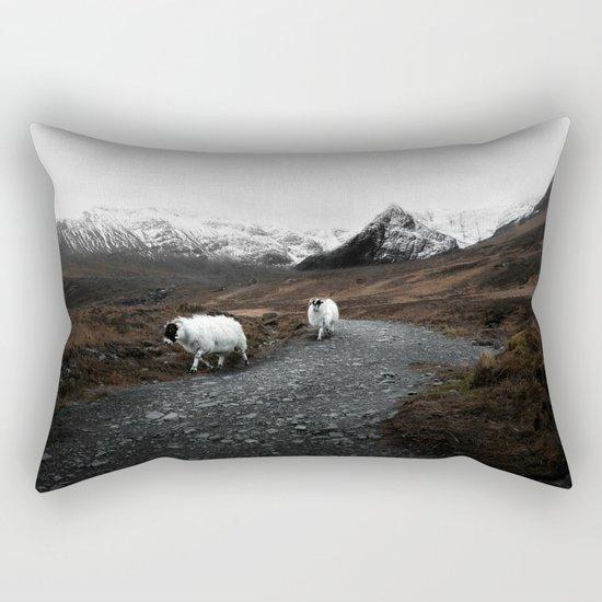 Sheep in the highlands #adventure Rectangular Pillow