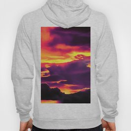 cloudy burning sky reaclsh Hoody