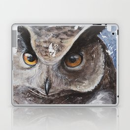 "The Owl - ""Watch-me!"" - Animal - by LiliFlore Laptop & iPad Skin"