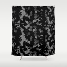 Stealth Honeycomb Camo Shower Curtain