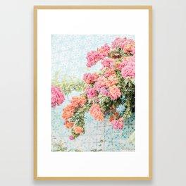 Lisbon Blooms Framed Art Print