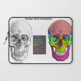 Human Skull Anatomy Laptop Sleeve
