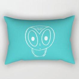 Turquoise Owl Rectangular Pillow