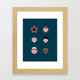 Stranger Icons Framed Art Print