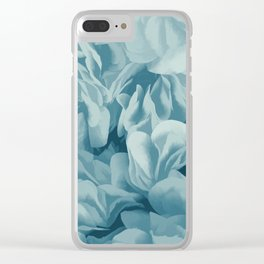 Soft Baby Blue Petal Ruffles Abstract Clear iPhone Case