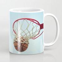 basketball Mugs featuring Basketball by KimberosePhotography