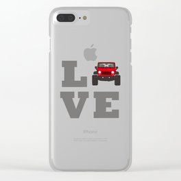 love 4x4 offroad Clear iPhone Case