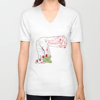 alice V-neck T-shirts featuring Alice by scoobtoobins