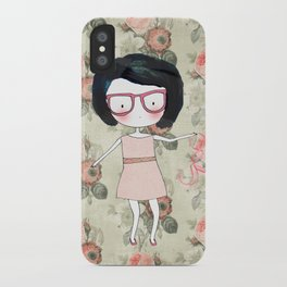 Nerdy girl iPhone Case