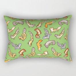 geckos in green Rectangular Pillow