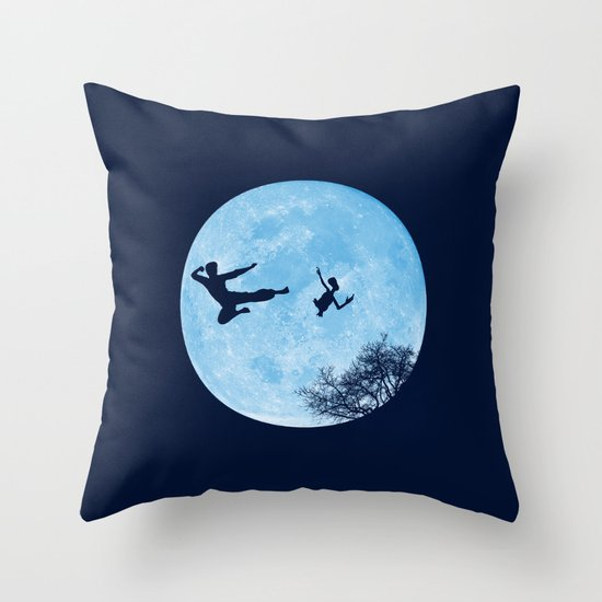 Go Big or Phone Home Throw Pillow