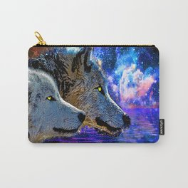 NEBULA WOLF OF THE NIGHT Carry-All Pouch