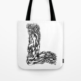 The Illustrated L Tote Bag