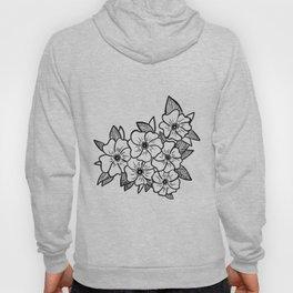 Inked flowers Hoody