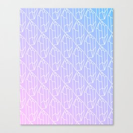 Crystal Pattern Canvas Print