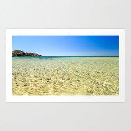 The beach of Chia su Giudeu, Sardinia Art Print