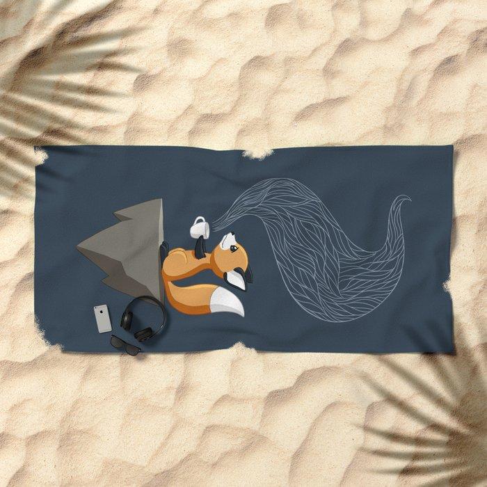 Fox Tea Beach Towel