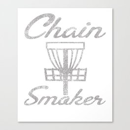 Chain Smoker Disc Golf Funny Distressed Canvas Print