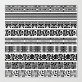Borders ikat ethnic frame tribal ---- Canvas Print