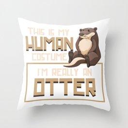 Otter Human Throw Pillow