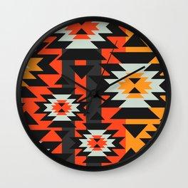 Aztec geometry Wall Clock