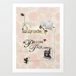 Pillow Talk Art Print