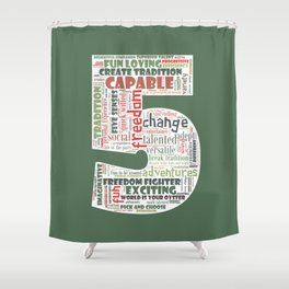 Life Path 5 (color background) Shower Curtain