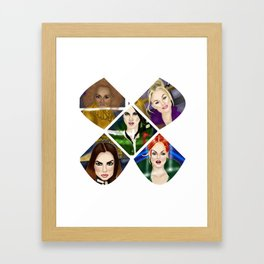 2 Become 1, Ginger, Baby, Sporty, Scary & Posh Framed Art Print