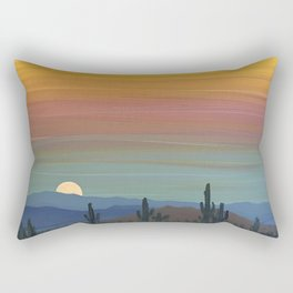 Arizona Moonrise Rectangular Pillow