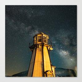 Mountain Light House Two Canvas Print