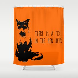 Fox in the Hen House Shower Curtain