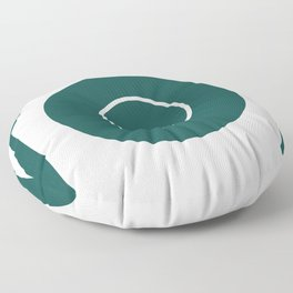 plate with cutlery Floor Pillow