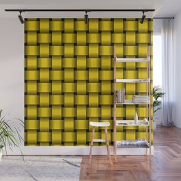 Gold Yellow Weave Wall Mural