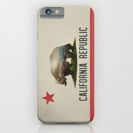 California Grizzly Bear Flag iPhone Case