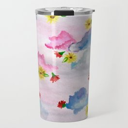 Sky Blooms Travel Mug