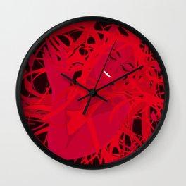 01 - RED GIRL Wall Clock
